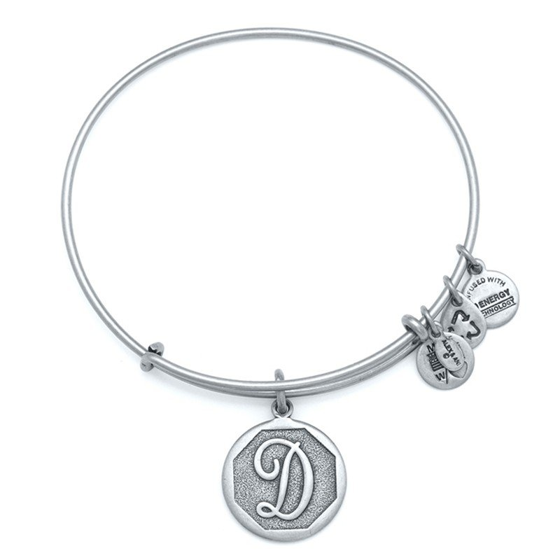 Alex and Ani | Rafaelian Silver Initial D Adjustable Bangle Bracelet