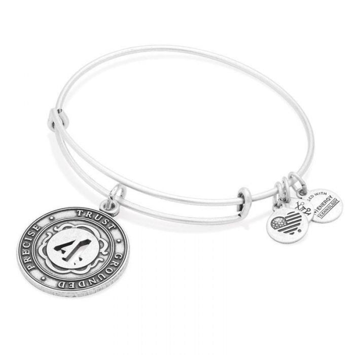 Alex and Ani | Rafaelian Silver Number 4 Adjustable Bangle Bracelet