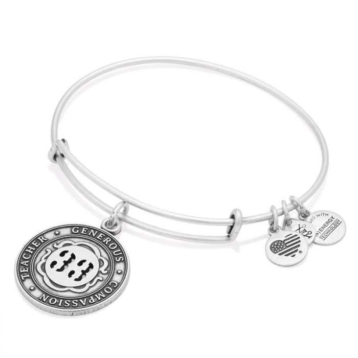 Alex and Ani | Rafaelian Silver Number 33 Adjustable Bangle Bracelet