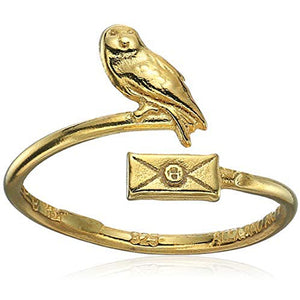 Alex and Ani | Harry Potter Owl Post Ring Wrap Gold