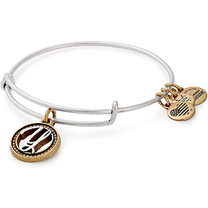 Alex and Ani | Two Tone Initial Y Adjustable Bangle Bracelet Silver