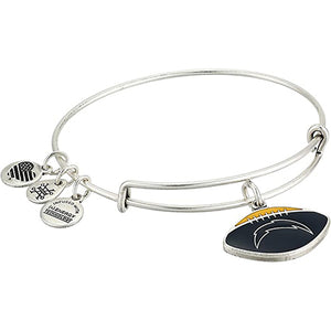Alex and Ani | San Diego Chargers Color Infused Adjustable Bangle Bracelet Silver