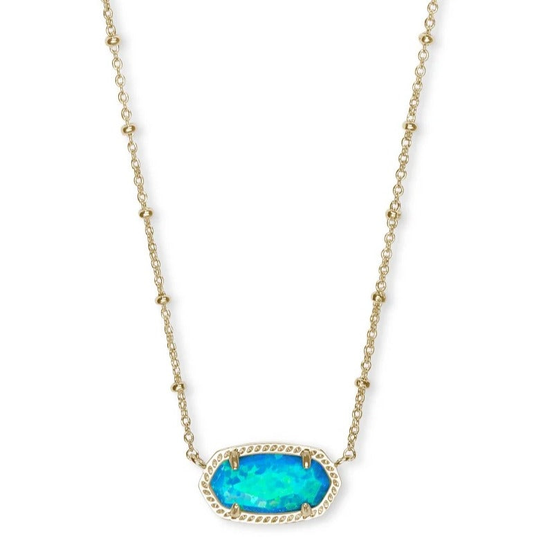 Kendra Scott | Elisa Short Necklace in 14 KT Gold and Turquoise Opal