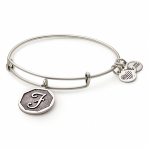 Alex and Ani | Rafaelian Silver Initial F Adjustable Bangle Bracelet