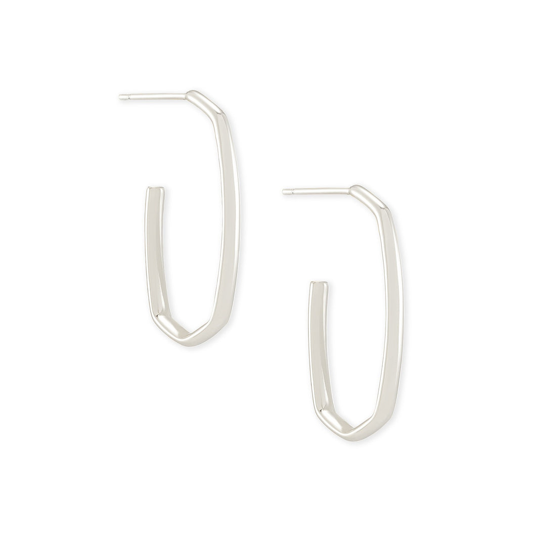 Kendra Scott | Rhodium Plated Ellen Hoop Earrings