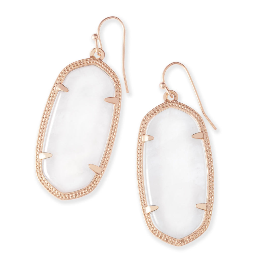 Kendra Scott | 14 KT Rose Gold Dani Ivory Mother of Pearl Drop Earrings