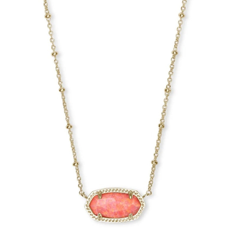 Kendra Scott | Elisa Short Necklace in 14 KT Gold and Coral Opal