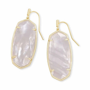 Kendra Scott | Faceted Elle Drop Gold Ivory Mother of Pearl Earrings