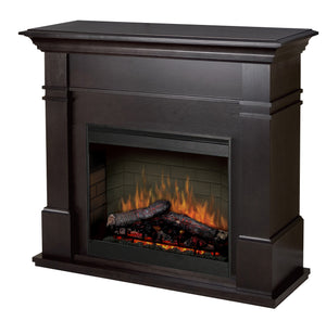 Kenton Espresso Mantle with LED Firebox