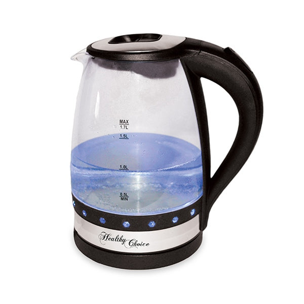 Healthychoice K888 1.7L Luminous Glass Kettle