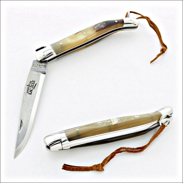 Forge de Laguiole Pocket Knife - Aubrac Cattle Horn Handle brut de forge blade
