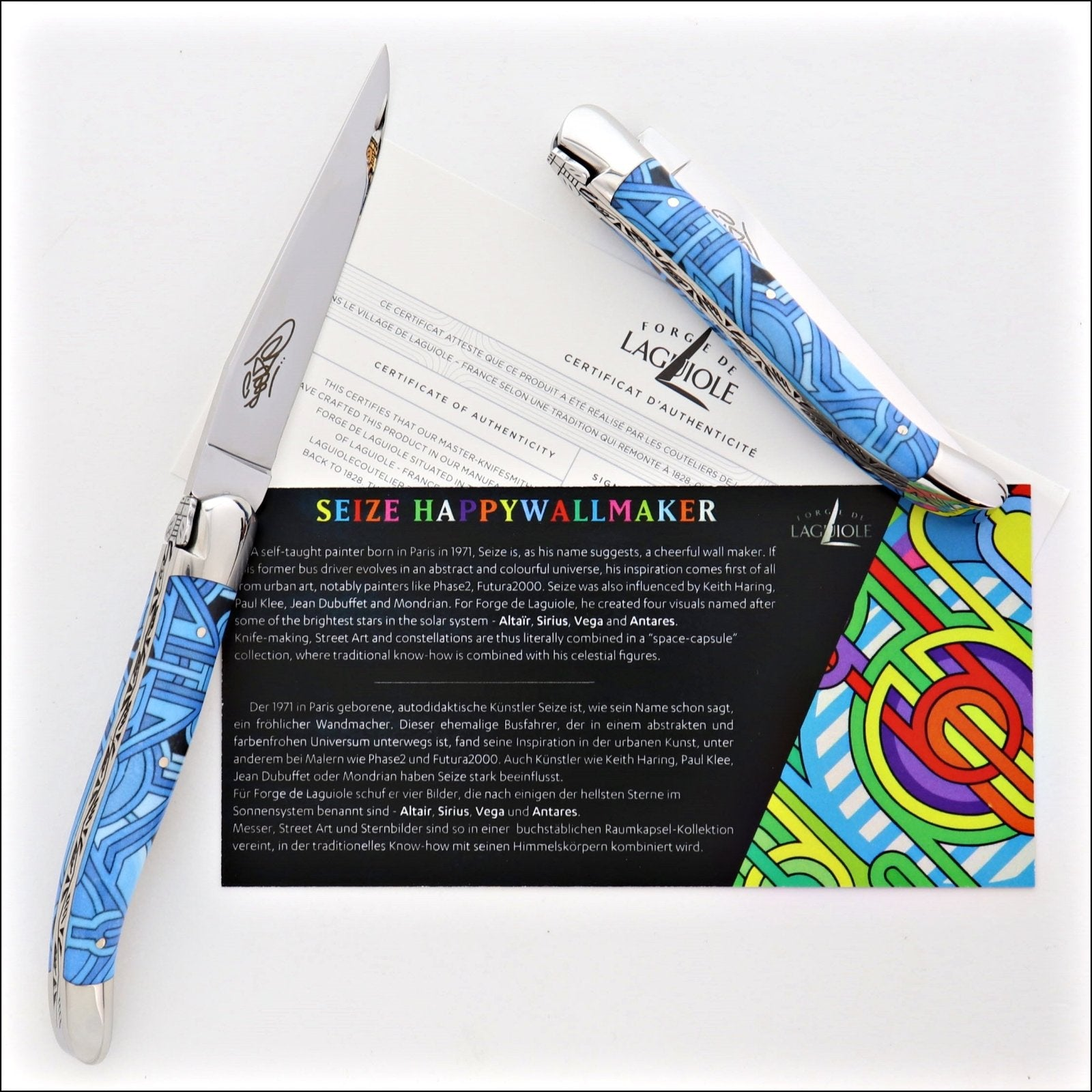 Seize folding knife – Sublimation Street Art