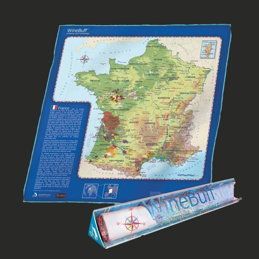 WineBuff Polishing Cloth - France