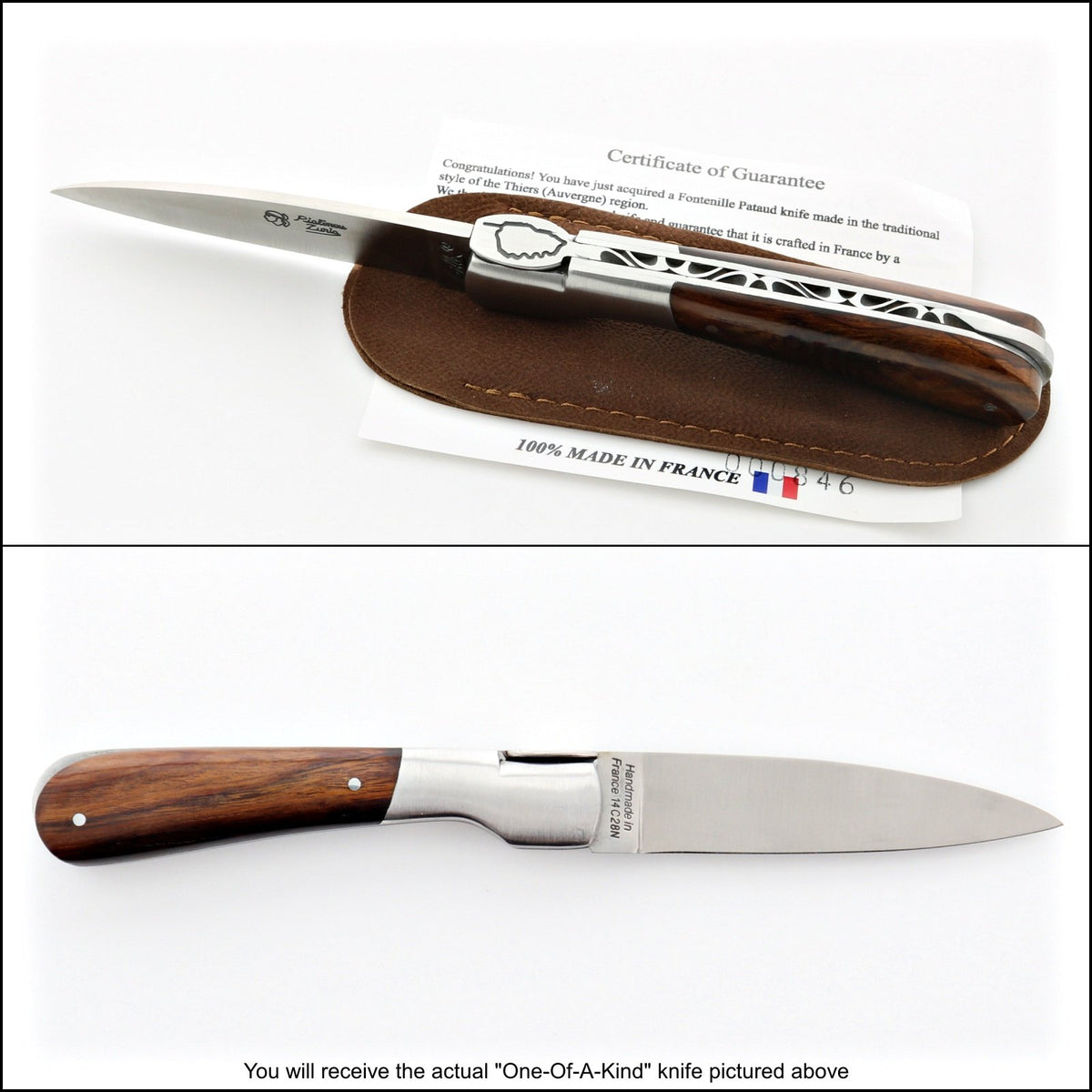 Corsican Pialincu Folding Knife Ironwood Handle-POCKET KNIFE