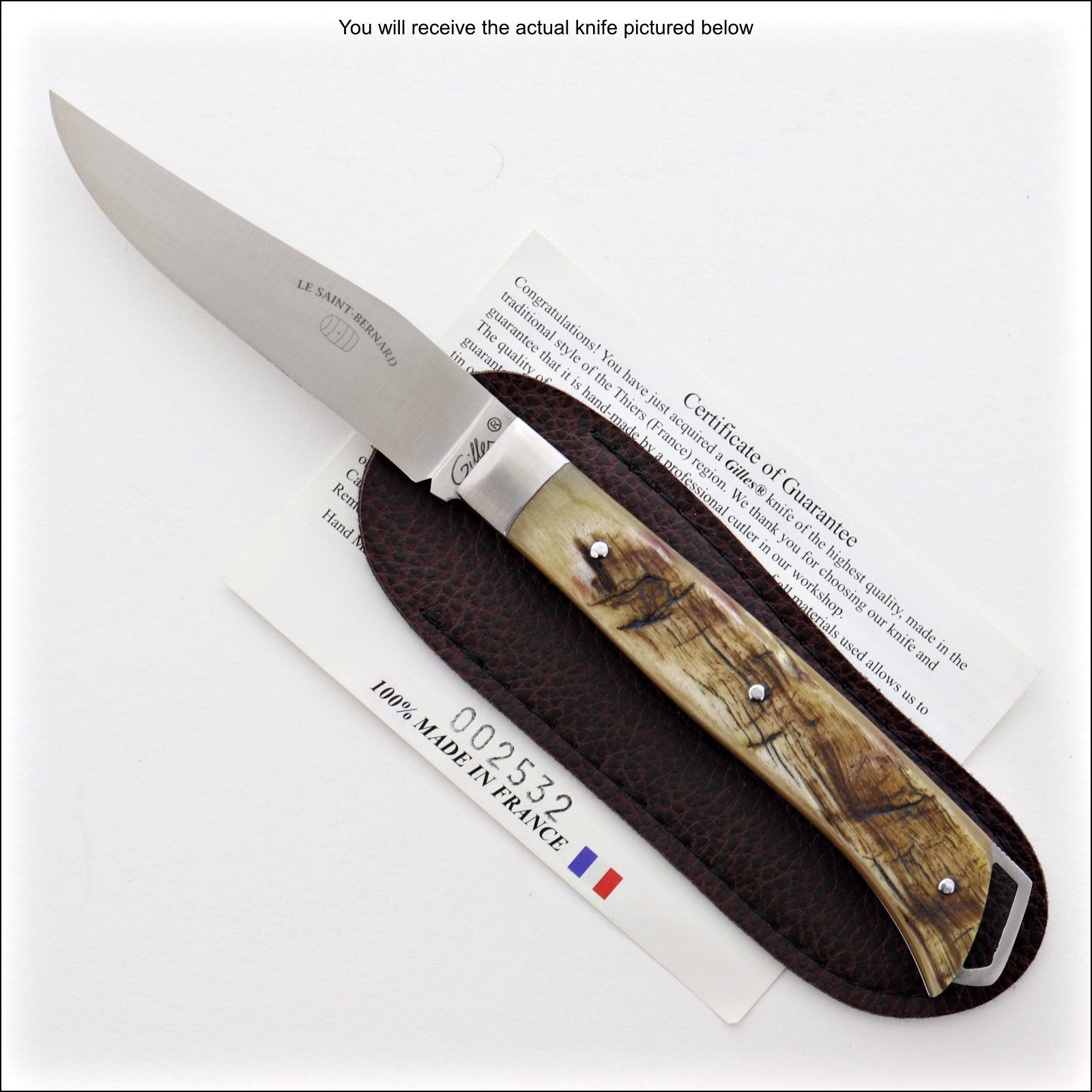 Le Saint-Bernard Pocket Knife - Ram Horn Handle - G