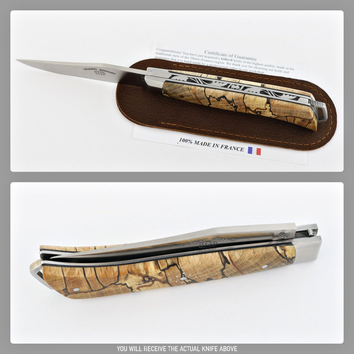 Le Saint-Bernard Pocket Knife - Spalted Beech-POCKET KNIFE