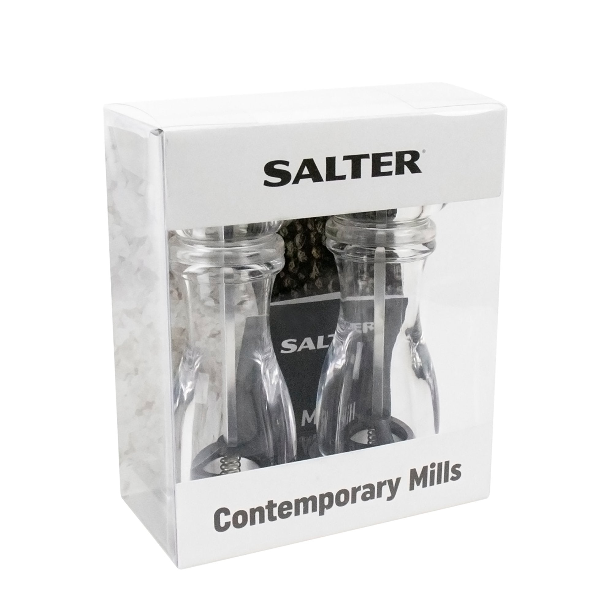 Salter Salter Contemporary Acrylic Mill Twin Pack 19cm