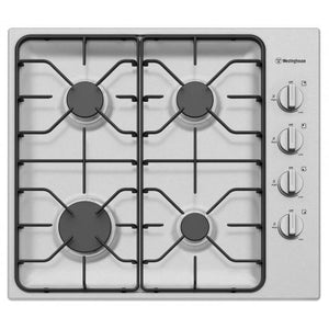 WESTINGHOUSE 60cm Four Burner Stainless Steel gas Cooktop
