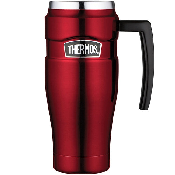 Thermos SK1000RAUS 470ml Stainless King Stainless Steel Vacuum Insulated Travel Mug ? Red