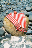 CLASSIC RED STRIPES - Handwoven Linen Towel