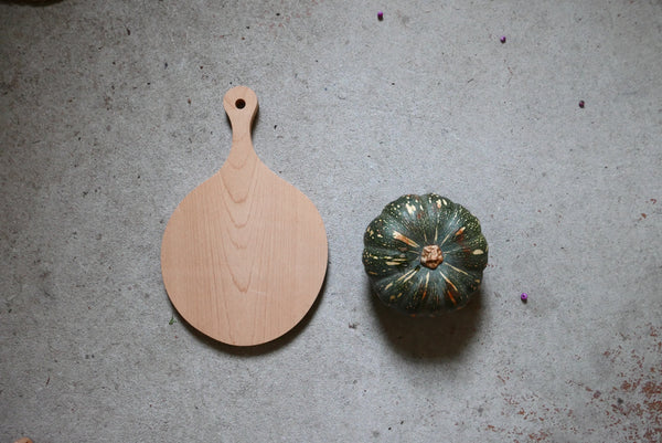 Hand carved mapple cutting board - Large Round