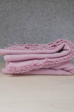 HANDWOVEN POWDER PINK BLANKET