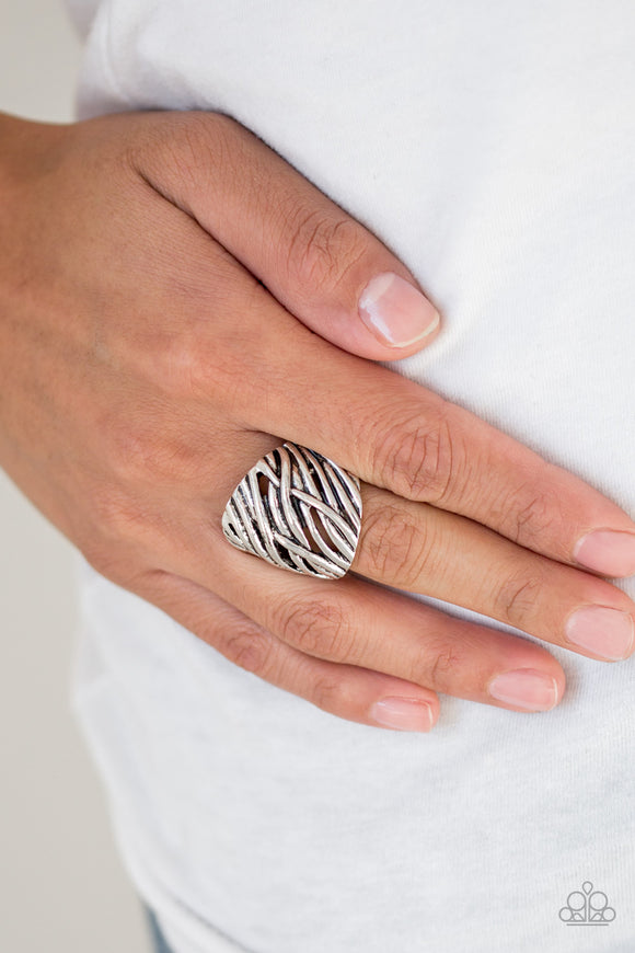 Really Riveting - Silver Ring