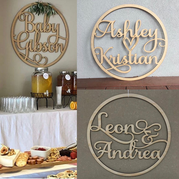Custom Words Hollow Plaque - Wooden