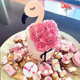 Peachy Flamingo 3D Cake Topper