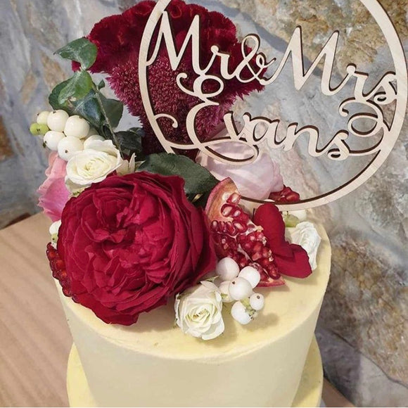 Lovers Hollow Design Cake Topper