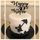 Happy 80 Den Design Cake Topper