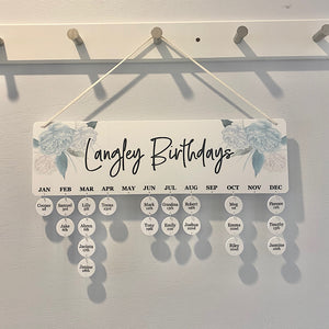 Aqua Birthday Board - Personalised