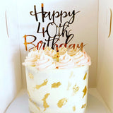 Laver Happy Age Word Cake Topper