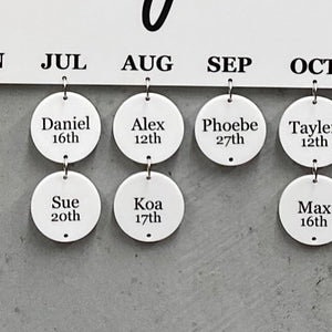 Additional Printed Tag for Birthday Board - Per Tag - Each