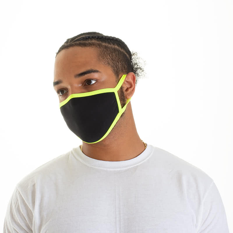 Face Mask - Black & Yellow