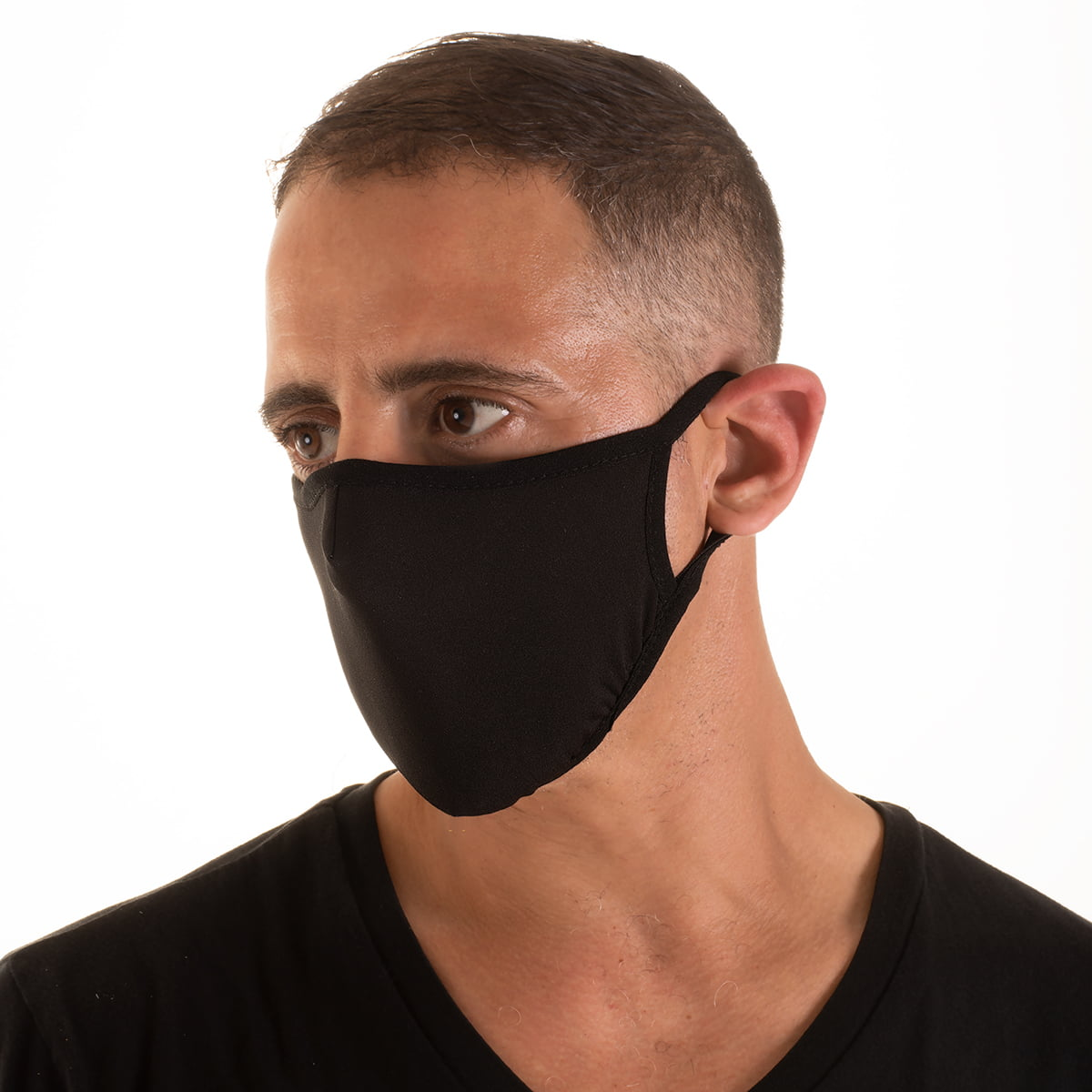 Black Adjustable Mask with Disposable Filter