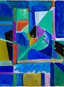 A composition painted by Catherine Zoubtchenko