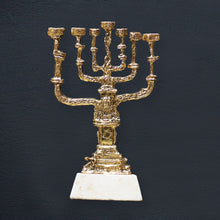 "Load image into Gallery viewer, Bronze sculpture ""Golden Menorah"" by Salvador Dali"