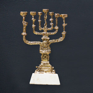 "Bronze sculpture ""Golden Menorah"" by Salvador Dali"