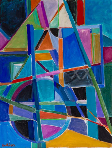 Composition painted by Catherine Zoubtchenko