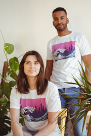 The Great wave environmental t shirt