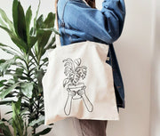 Plant lovers organic tote bag