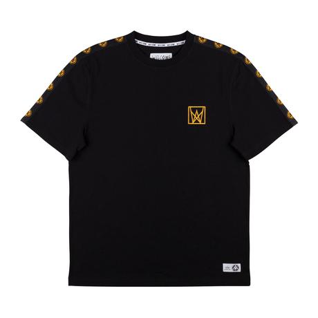 Welcome Chalice Taped Short Sleeve Knit - Black/Gold