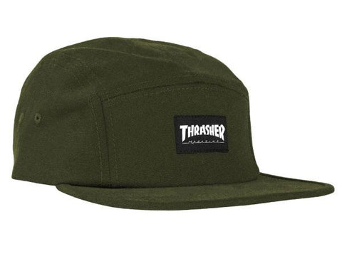 Thrasher Label 5-Panel Hat Army