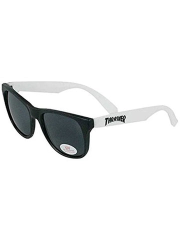 THRASHER LOGO SUNGLASSES BLACK/WHITE