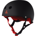 Triple Eight Sweatsaver Skateboard Helmet Black Rubber/Red