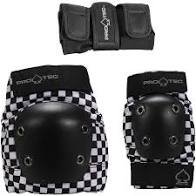 PRO TEC STREET PAD 3 PACK SET CHECKER YOUTH S