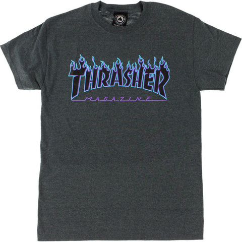 Thrasher Flame T-Shirt - Dark Heather