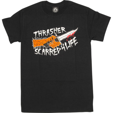 THRASHER - SCARRED 4 LIFE T-SHIRT BLACK