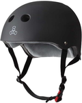 TRIPLE 8 HELMET CERTIFIED SWEATSAVER BLACK RUBBER XL/XXL